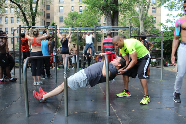 Anne Loftus Playground Workout Station