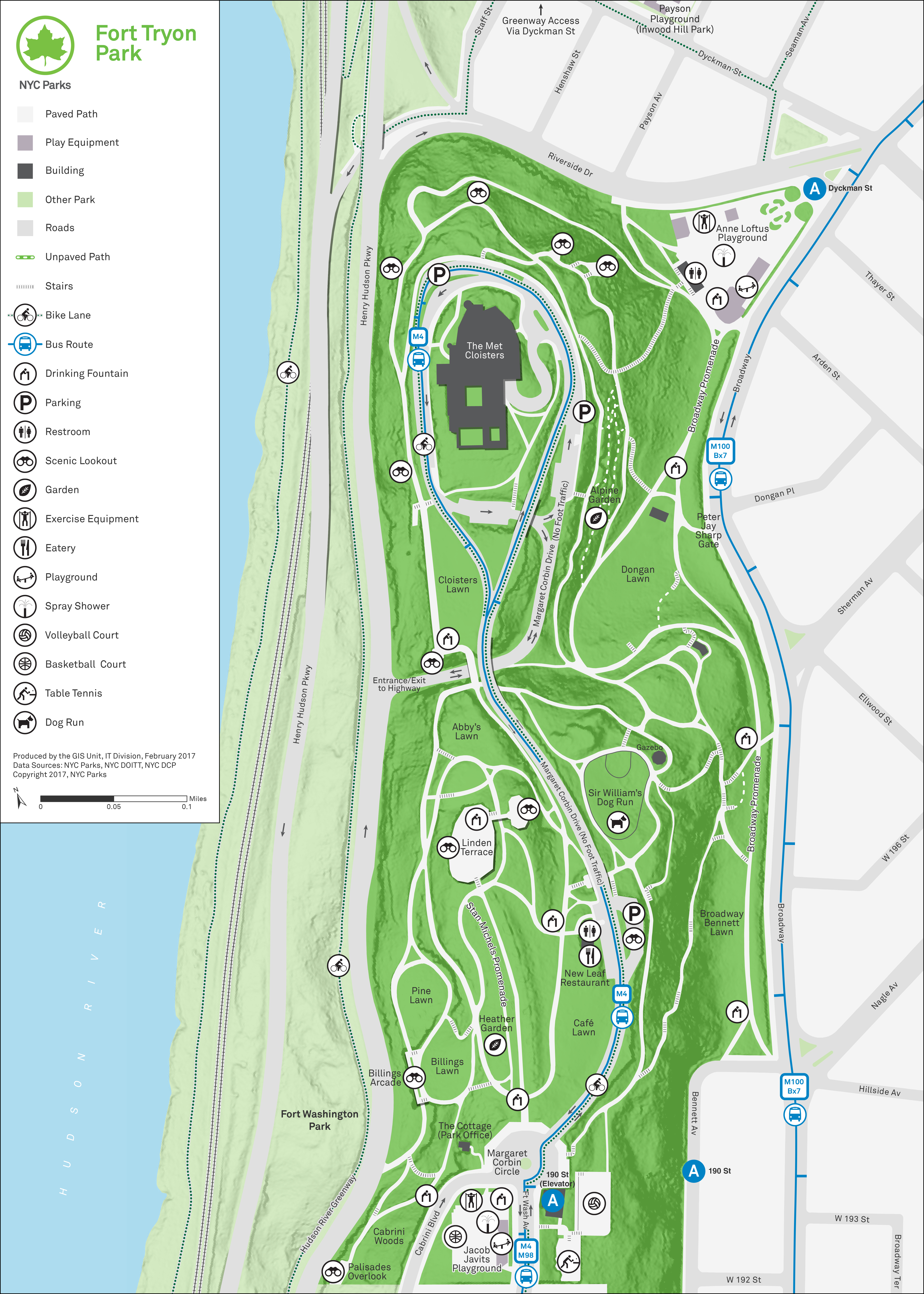 Fort Tryon Park Map Visit | Fort Tryon Park Trust Fort Tryon Park Map
